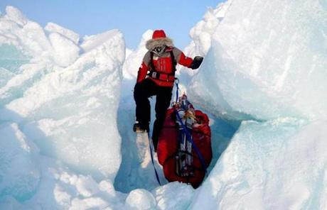 SLIDER Vanessa O'Brien in the South Pole